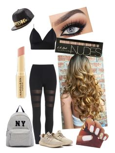 """""""Friday sleepover"""" by crissie-cabrera on Polyvore featuring Moschino, Napoleon Perdis and Joshua's"""