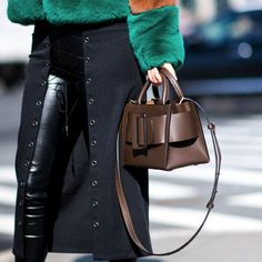 NYFW street style is all about who you're carrying. Try this season's bucket bag trend with BOYY. - @ www.mytheresa.com