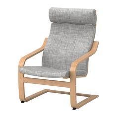 IKEA - POÄNG, Sillón, chapa haya, Isunda gris, , Gracias a la estructura flexible de tablillas de haya encoladas y curvadas, resulta muy cómodo.El respaldo alto proporciona un buen apoyo al cuello.La funda es fácil de limpiar, ya que se puede quitar y lavar en seco.Con nuestro surtido variado de cojines podrás renovar fácilmente el aspecto de POÄNG y de la habitación.Si lo combinas con el reposapiés POÄNG, el sillón será aún más cómodo.10 años de garantía. Consulta las condiciones en el…