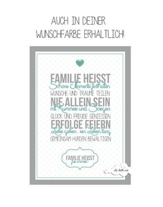 "Din A4 Print ""Familie"" // typo poster, family by La belle vie. via DaWanda.com"