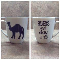 Blue hump day mug by sarahmarie28 on Etsy