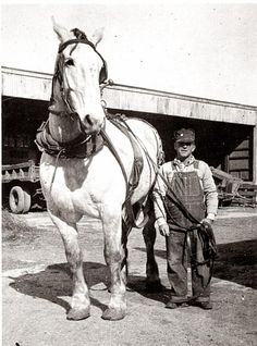 A Man and His Horse   Coldwater, Kansas 1945