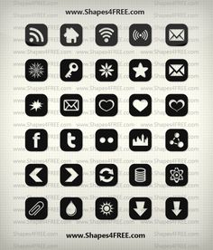 Free Shapes:  90+ Shapes Icons (Vector)