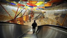 Art galleries and time capsules: Europe's most interesting and beautiful metro stations   Euronews Architecture People, Interior Architecture, Interior Design, Stockholm City, Metro Station, Subway Art, World's Most Beautiful, World Of Color, Lisbon