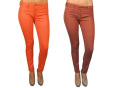 {Reversible Skinny Jeans} from bright to muted, in orange/rust & blues too!