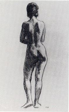 Standing Nude  Edward Hopper. Hopper is an artist whose art I really admire. This isn't one of his most famous works, but I like how different this sketch is from all his other work.