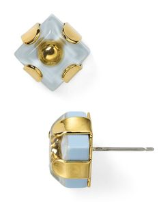 Marc By Marc Jacobs Kandi Gems Square Stud Earrings