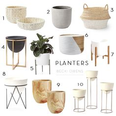 Our Planter RoundupBECKI OWENS is part of House plants indoor - For today's roundup we're thinking big, with oversized floor planters in beautiful neutrals that are perfect for adding life to empty corners House Plants Decor, Plant Decor, Interior Design Living Room, Living Room Decor, Plantas Indoor, Indoor Planters, Modern Planters, Interior Plants, Home And Living