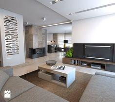 Salon styl Nowoczesny - zdjęcie od A2 STUDIO pracownia architektury