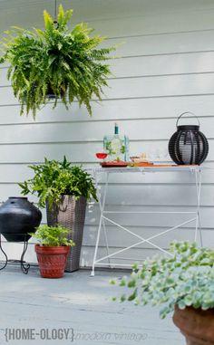 DIY restored antique garden table