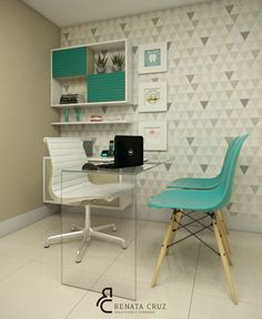 Decoradornet - O seu decorador a uma tela de distância! Clinic Interior Design, Clinic Design, Interior Design Living Room, Medical Office Decor, Dental Office Design, Waiting Room Design, Cabinet Medical, Hospital Design, Living Room Modern