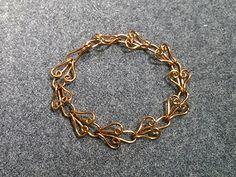 Heart chain  bracelet - How to make wire jewelery 205 - YouTube