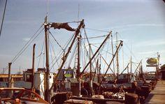35mm Slide Esso Marine Service Red Border 1950 Freeport Long Island New York