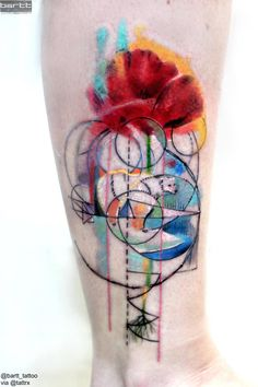 "BARTT Tattoo | London UK ""Bear and Poppy themed piece done recently for an amazing Georgina""paint.lifetime7@gmail.com"