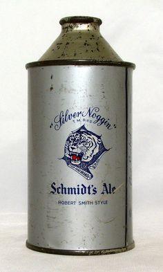 Schmidt's Tiger Brand Ale 12 oz Cone Top Beer Can Philadelphia PA   eBay back side