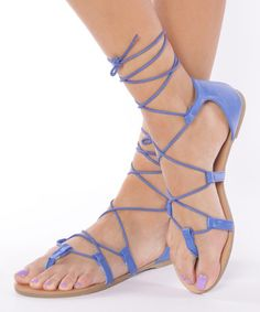Loving this Blue Tina Lace-Up Sandal on #zulily! #zulilyfinds