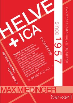 Helvetica typography poster. Design by Shandy Oktavia