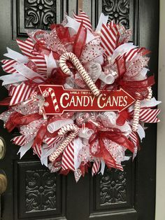 DIY Christmas Wreaths for Front Door - Party WowzyYou can find Holiday wreaths and more on our website.DIY Christmas Wreaths for Front Door - Party Wowzy Stick Christmas Tree, Christmas Wreaths For Front Door, Holiday Wreaths, Rustic Christmas, Diy Christmas Ribbon Wreath, Cheap Christmas, Christmas Candles, Primitive Christmas, Homemade Christmas Wreaths