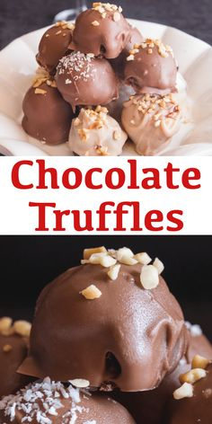 Homemade Chocolate Truffles are creamy and made extra delicious with a little Chocolate Liqueur added! They will be gone in no time! Chocolate Liqueur, Frozen Chocolate, Dessert Chocolate, Chocolate Treats, Best Chocolate, Chocolate Truffles, Homemade Chocolate, Chocolate Recipes, Fudge Recipes