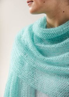 Free Knitting Pattern for Easy One Row Repeat Open Air Wrap - This shawl is knit with a one row repeat mesh lace stitch. Designed by Purl Soho Knitting Patterns free One Row Repeat Knitting Patterns Free Knit Shawl Patterns, Knit Wrap Pattern, Lace Patterns, Free Pattern, Free Knitting Patterns Sweaters, Stitch Patterns, Easy Knitting, Loom Knitting, Lace Knitting Stitches