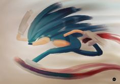 Sonic the Hedgehog 11 x 17 art print by VICTORYDELUXE on Etsy, $6.99