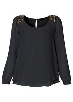 Chiffon-Bluse, BODYFLIRT, schwarz