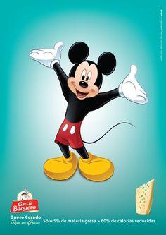 Queso Curado Bajo en Grasa.  Versión Mickey.
