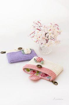 Crochet Wallet, Crochet Keychain Pattern, Crochet Coin Purse, Crochet Purses, Love Crochet, Crochet Baby, Knit Crochet, Woolen Craft, Mercerized Cotton Yarn