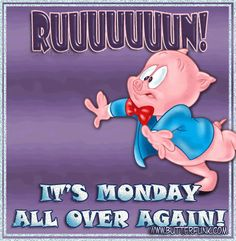 Ruuuuuun! Its Monday All Over Again monday monday quotes monday pictures monday images monday gifs