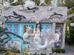 Seashell House: LES GRIGRIS DE SOPHIE: LA MAISON AUX COQUILLAGES DE MONSIEUR CLEMENT A SIOUVILLE