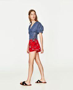 Imagen 4 de TOP DENIM de Zara