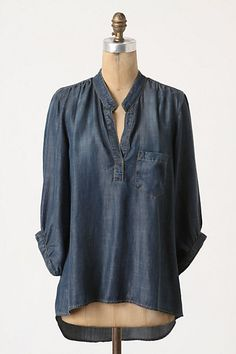 Wagner Tunic #anthropologie Im obsessed with denim shirts right now but this one is more blouse..... , I also wanted to show you a solution that worked for me! I saw this new weight loss product on CNN and I have lost 26 pounds so far. Check it out here http://weightpage222.com