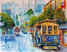 """Képtalálat a következőre: """"SAN FRANCISCO tram painting"""""""