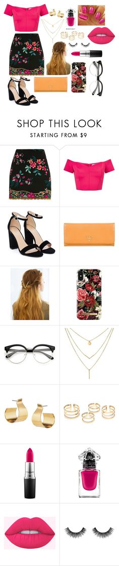"""""""HAPPY NEW YEAR 2018"""" by sammycairo ❤ liked on Polyvore featuring Topshop, Miss Selfridge, Nasty Gal, Prada, WithChic, iDeal of Sweden, Keishi Jewellery, MAC Cosmetics, Guerlain and Velour Lashes"""