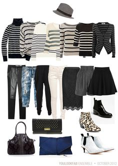 Wear Striped Tops with Unexpected Bottoms.