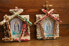 From Illuminated Ink, these were fun grotto kits to put together for the Feast of Our Lady of Lourdes. Catholic Feast Days, Catholic Saints, Lourdes Grotto, Our Lady Of Lourdes, Popsicle Sticks, Religion, Christmas Ornaments, Holiday Decor, February