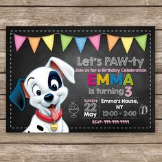 101 Dalmatian Invitations birthday party by RRCreations123 Karas
