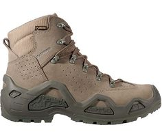 I've been wearing LOWA boots for decades...the same pair, actually, they last forever. Here's one of their new models, the Lowa Z-6S GTX, just spiffy enough to make me believe I need a pair for the next decade.
