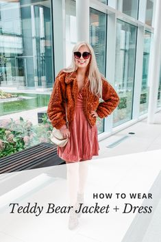 What I wore: teddy bear jacket - LUCIANA COUTO