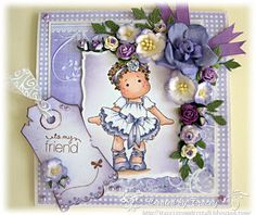 Using Tutu Tilda and Bearly Mine Designs Papers  Tracey's Country Crafts