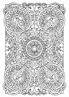 Coloring page mandala a05 - img 21807.