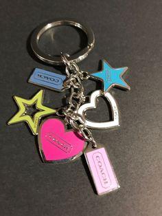 2933e3cf834 Coach Key Chain Ring Fob Charm Hearts Stars Pink Blue Multi Authentic  #fashion #clothing