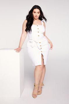 ad1496c960 Kellee Moran Denim Midi Dress