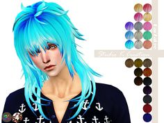 Animate hair 57 - AOBA for female & male http://angelkwan6.wix.com/studiok#!Animate-hair-57-AOBA/cmbz/57384d480cf2eac0f5245b6e