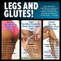 Legs and glutes exercises !