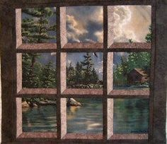 attic windows quilt - Google Search
