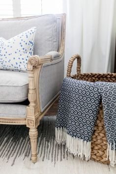 Printed and textured pieces brighten up and all white room: http://www.stylemepretty.com/living/2016/11/25/the-5-reasons-you-should-be-designing-with-white/ Photography: Catherine Truman - http://www.catherinetrumanphoto.com/