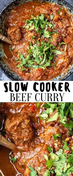 This Slow Cooker Beef Curry is simple to make but full of flavour. A fuss-free curry recipe the whole family will love. This healthy tomato-based curry that's slimming friendly and low in calories. Slow Cooker Beef Curry, Slow Cooker Italian Beef, Best Slow Cooker, Crock Pot Slow Cooker, Slow Cooker Recipes, Beef Recipes, Easy Recipes, Easy Meals, Delicious Crockpot Recipes