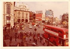 Piccadilly Circus, London in the 1960s