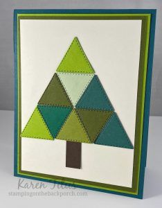 tree quilt card Right Triangle, Tree Quilt, Free Facebook, Unique Cards, Winter Cards, Have Some Fun, Note Cards, Quilt Patterns, Stampin Up